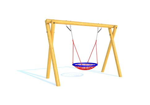 Timber Swing (2.4M) with Group Seat