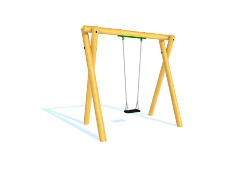 Timber Swing (2.4M) with Flat Seat