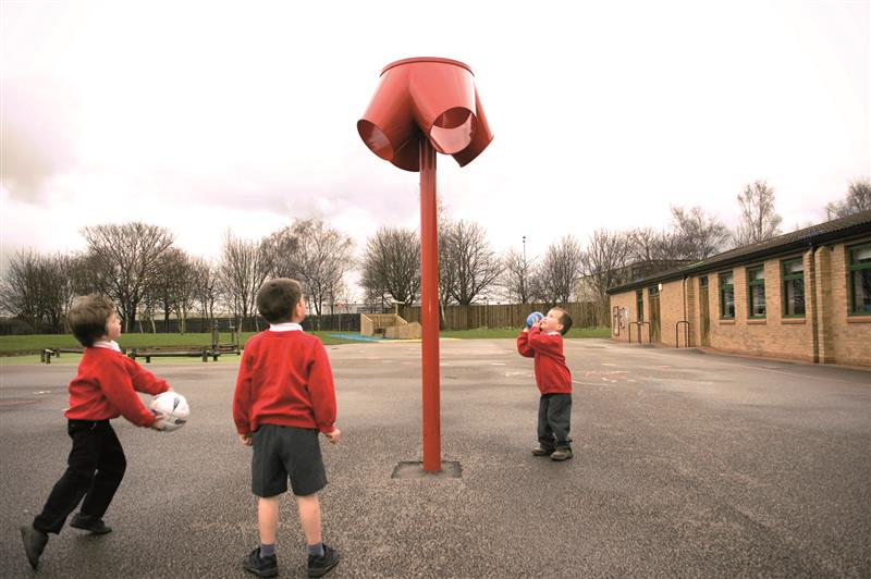 4 Way Funnel Ball Chute For School Playgrounds Pentagon Play
