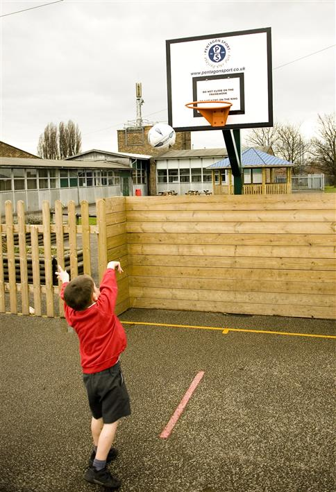 Adjustable Basketball Post