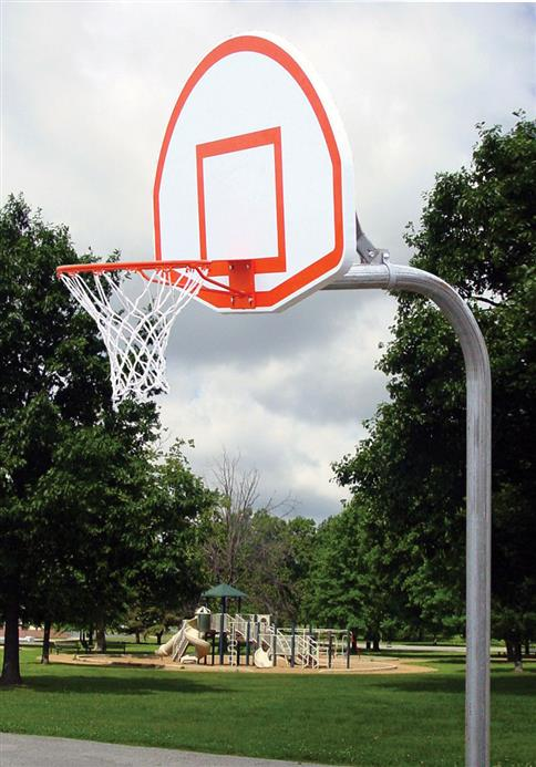 Anti-Vandal Gooseneck Basketball Post