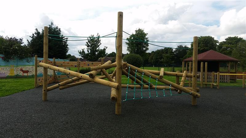 Skiddaw Wooden Climbing Frame For Schools Pentagon Play